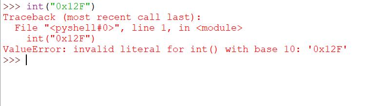 For value error