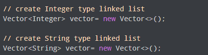 java vector class creation with explanation