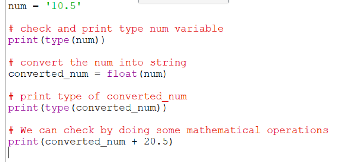 use float() in python