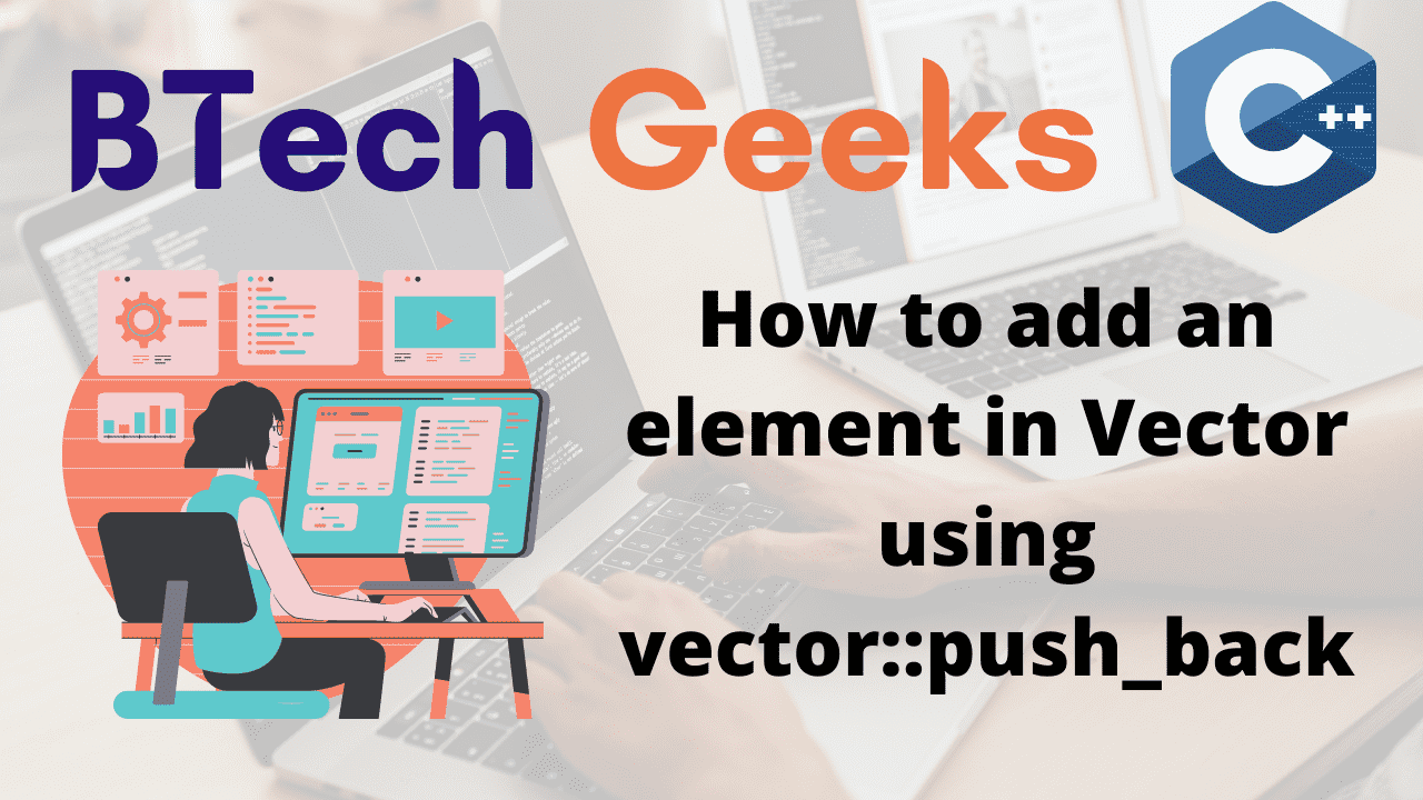 How to add an element in Vector using vectorpush_back