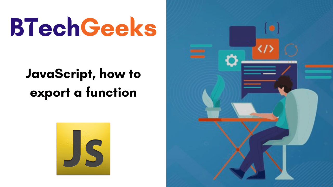 JavaScript, how to export a function