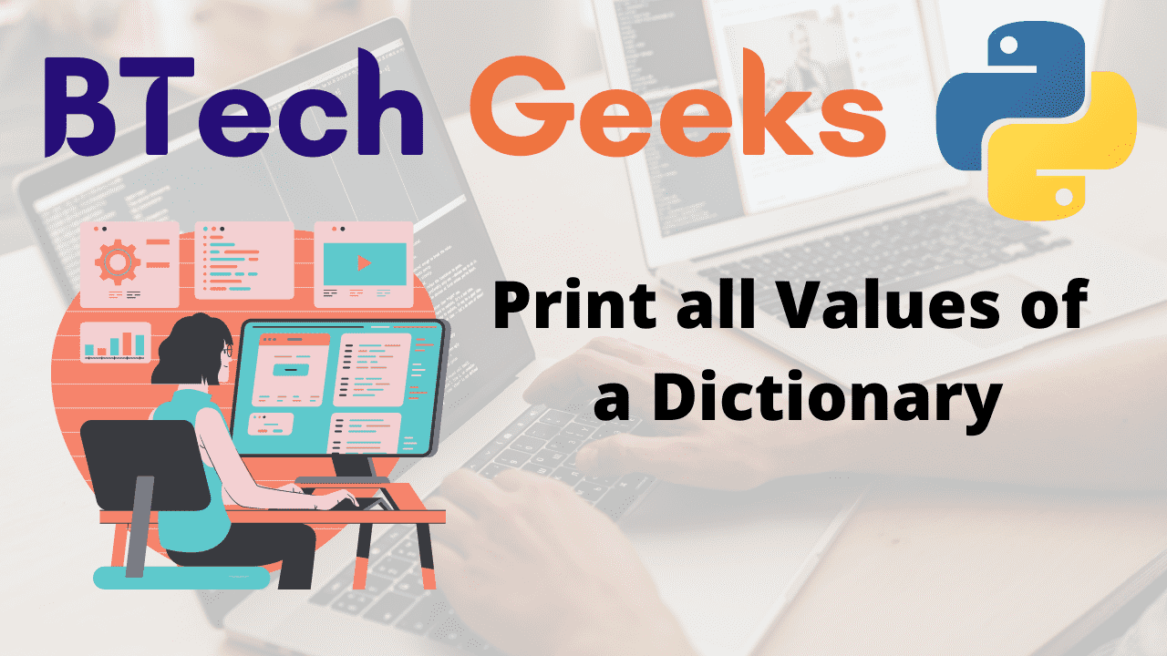 Print all Values of a Dictionary