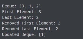 deque interface example output