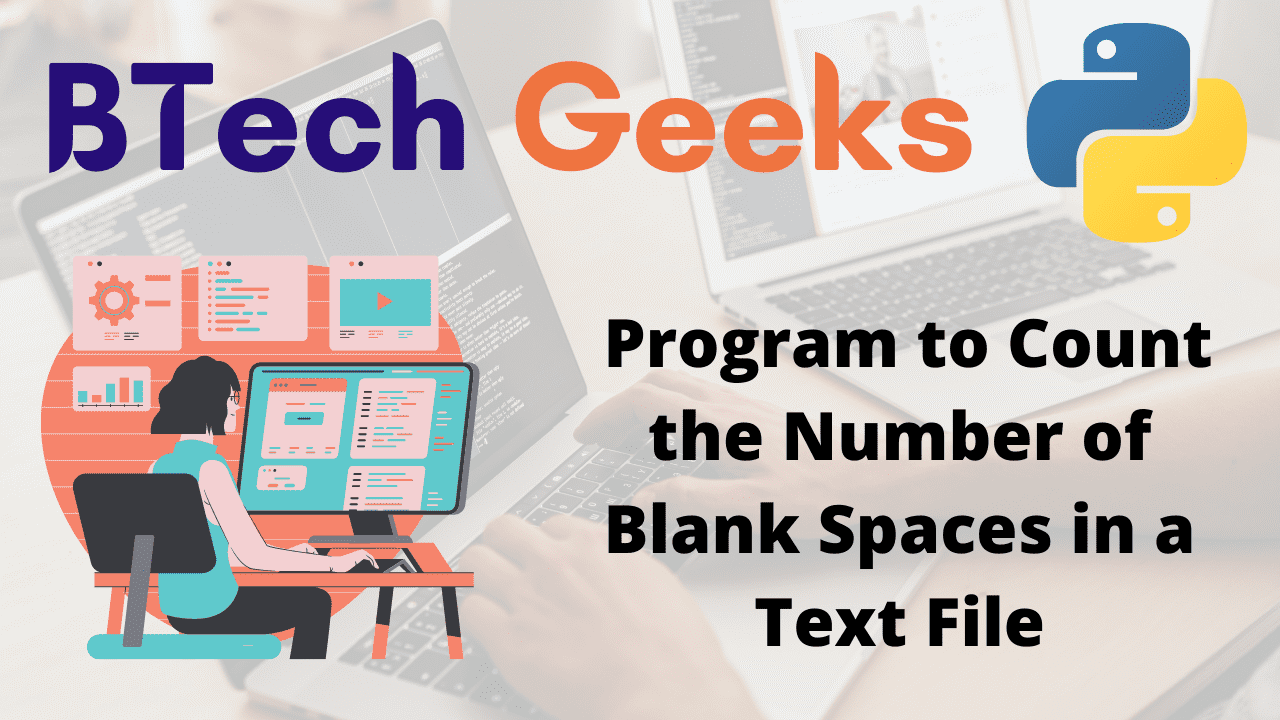 Program to Count the Number of Blank Spaces in a Text File