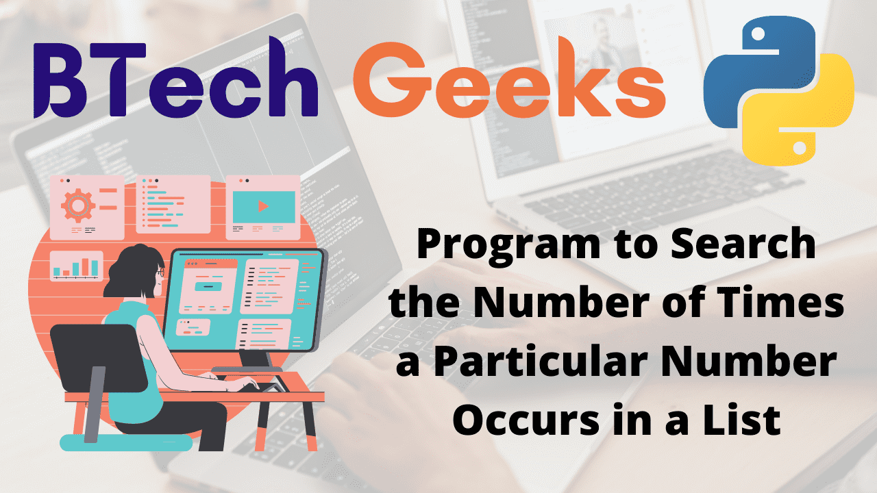 Program to Search the Number of Times a Particular Number Occurs in a List