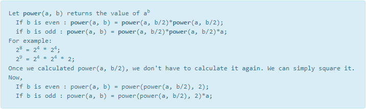 C program to find power of a number using divide and conquer 2