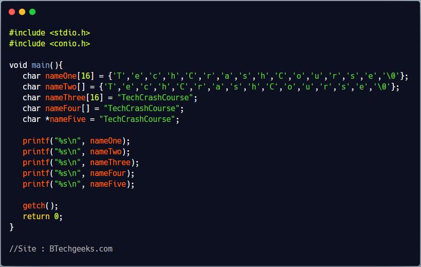 String in C Programming