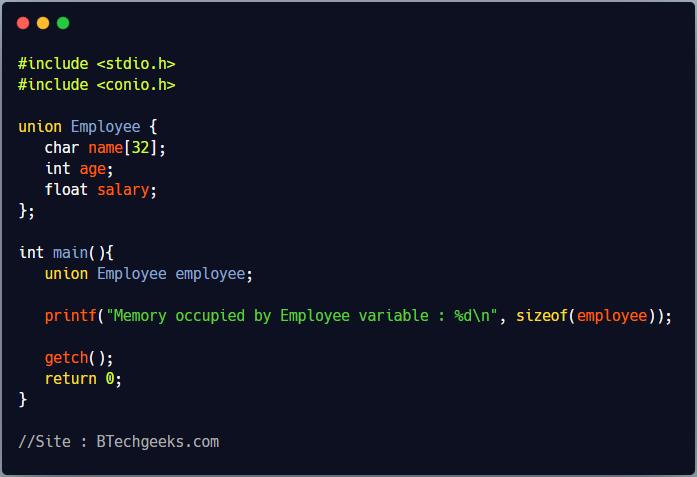 Union in C Programming