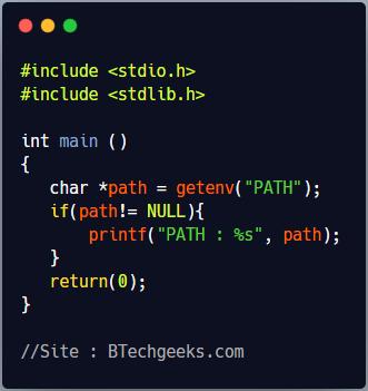 getenv C Library Function