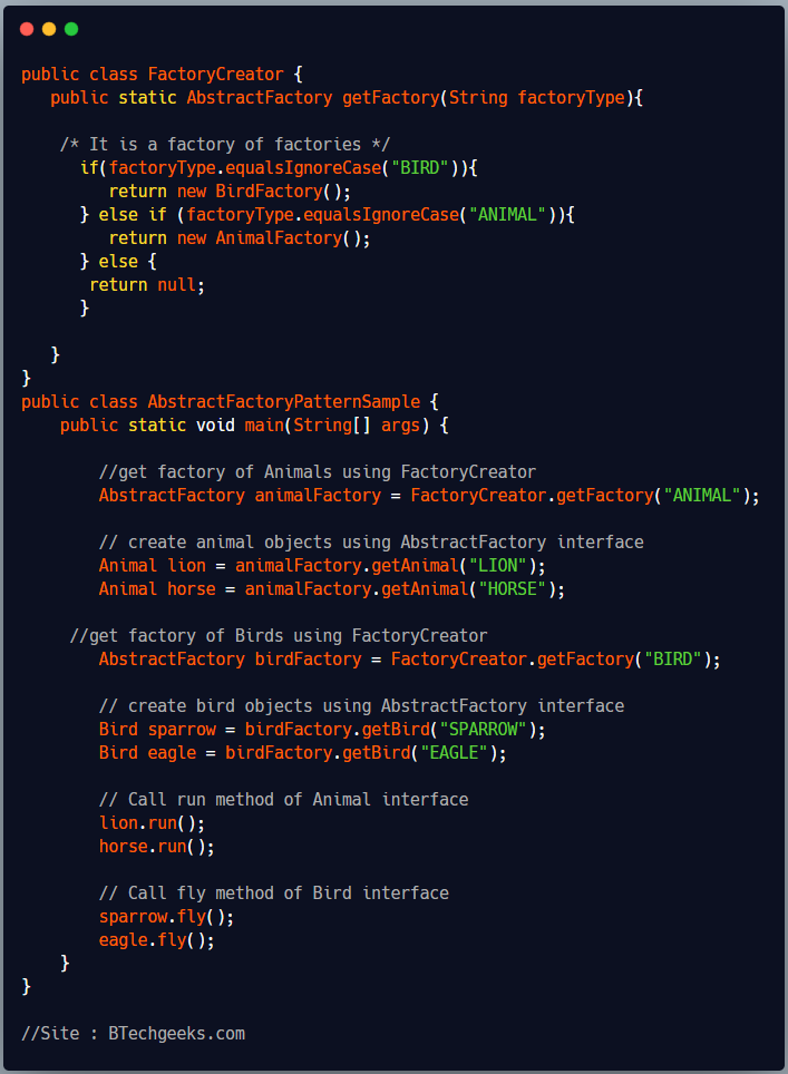 Abstract Factory Design Pattern 1