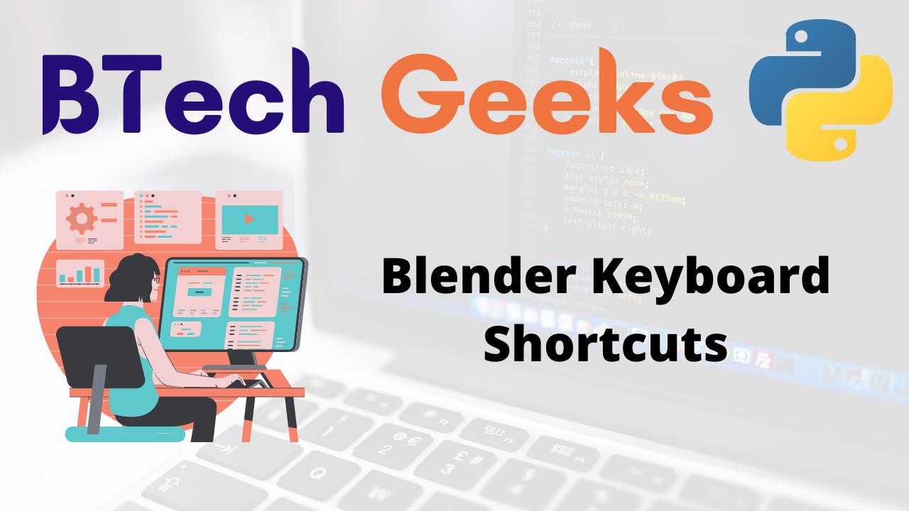 Blender Keyboard Shortcuts