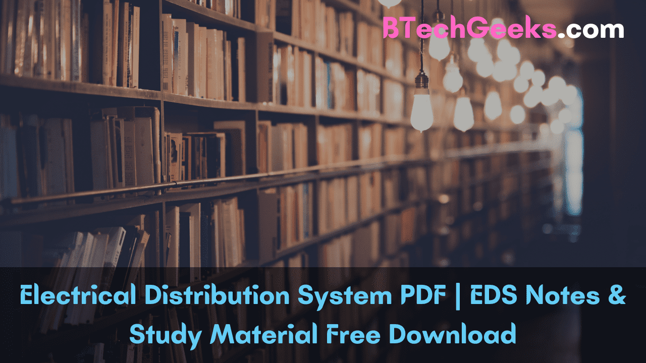 Electrical Distribution System PDF