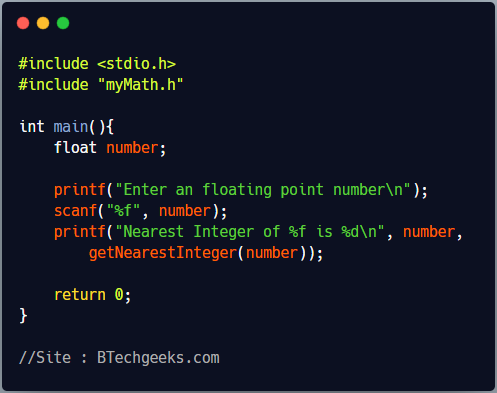How to create your own header file in C programming language