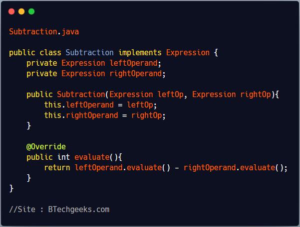 Implementation of Interpreter Design Pattern 1