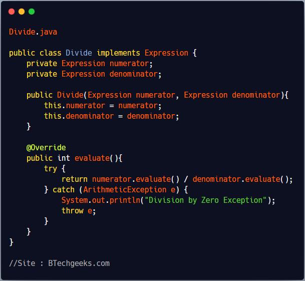 Implementation of Interpreter Design Pattern 3