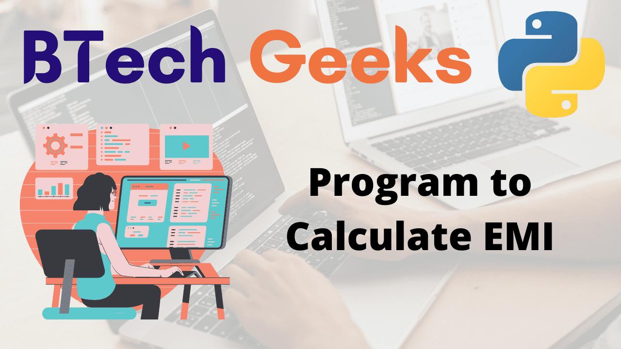 Program to Calculate EMI