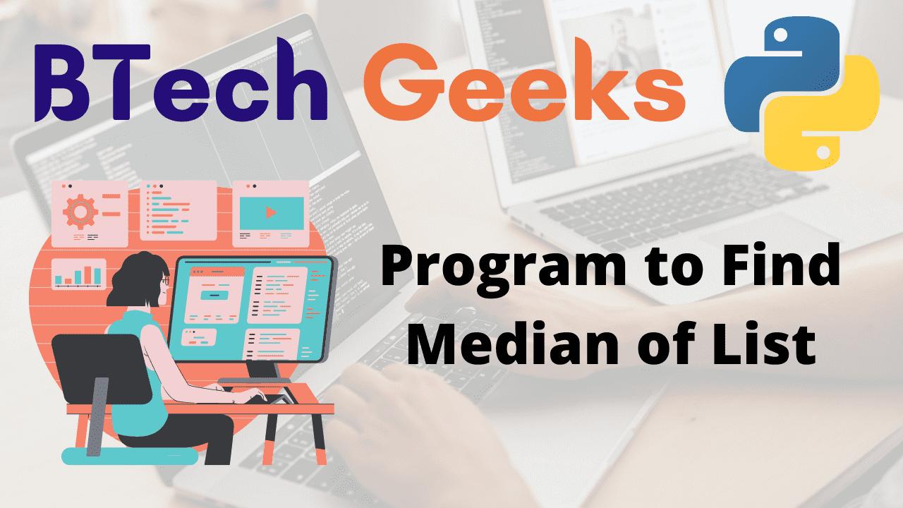 Program to Find Median of List