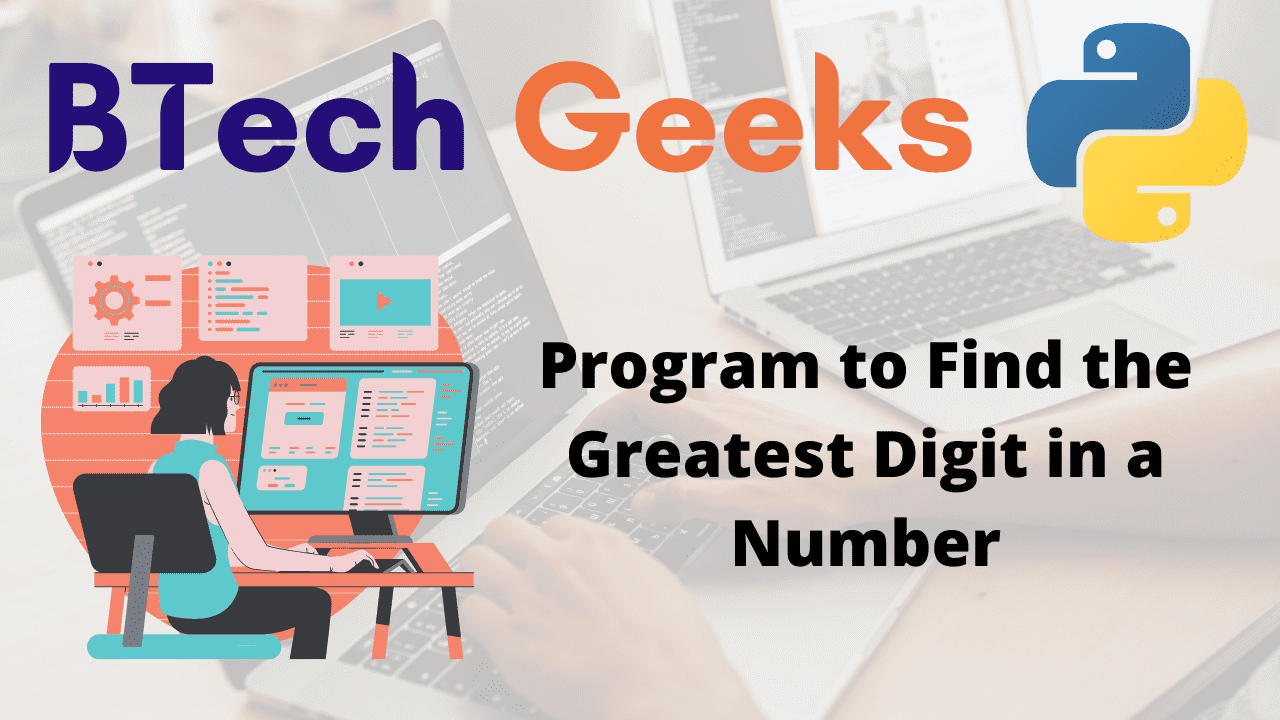 Program to Find the Greatest Digit in a Number.