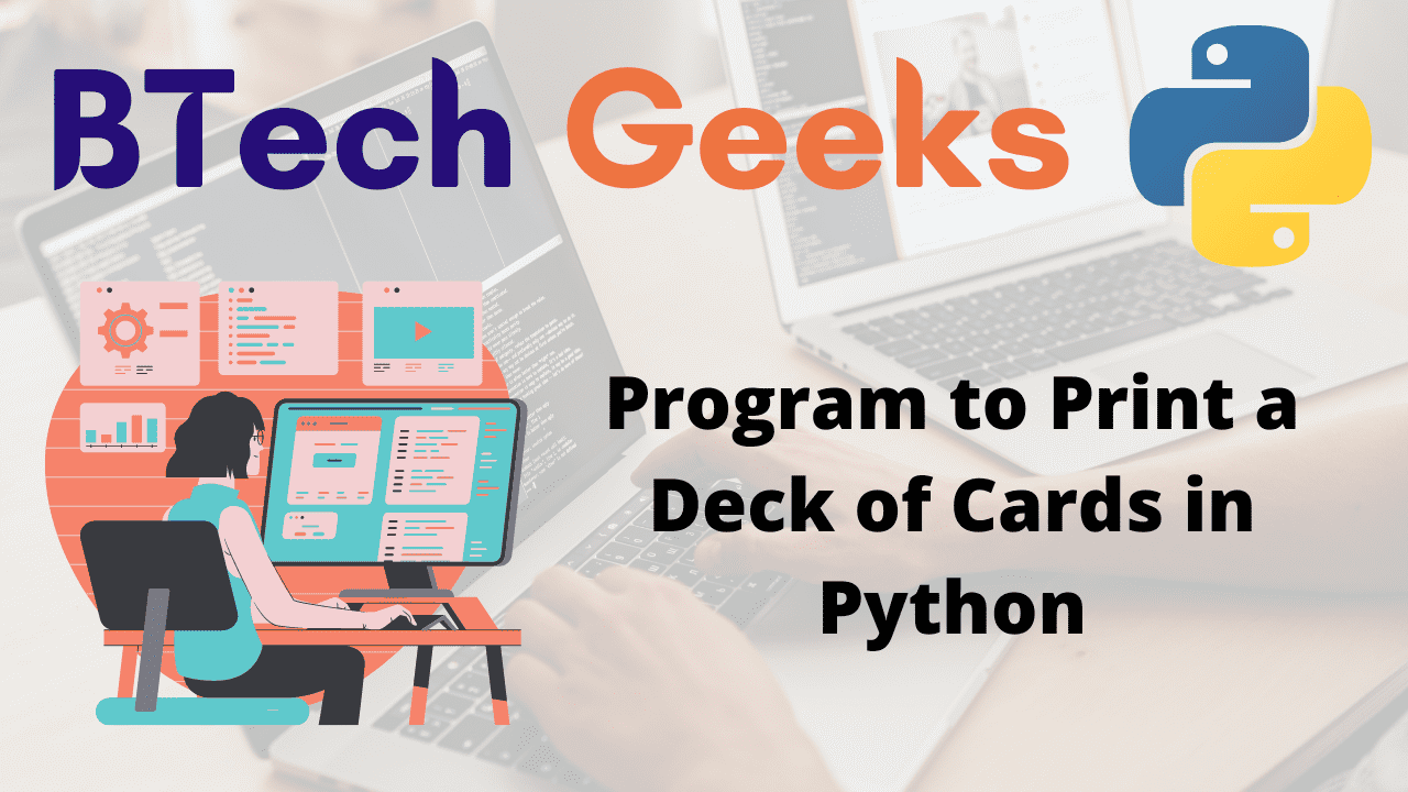 Program to Print a Deck of Cards in Python