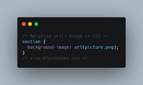 Relative url() Usage in CSS