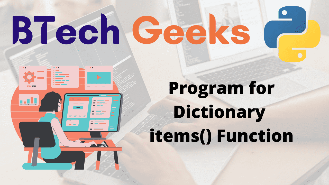 Program for Dictionary items() Function