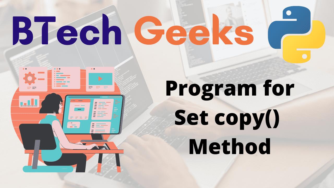 Program for Set copy() Method